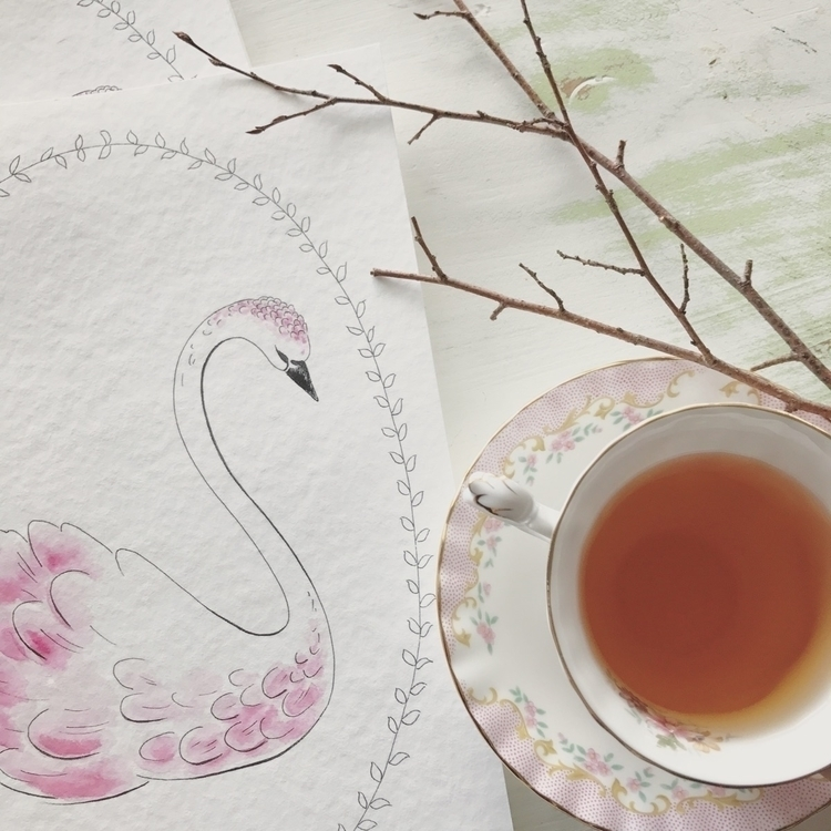 Spending morning drinking tea p - artbydimity | ello