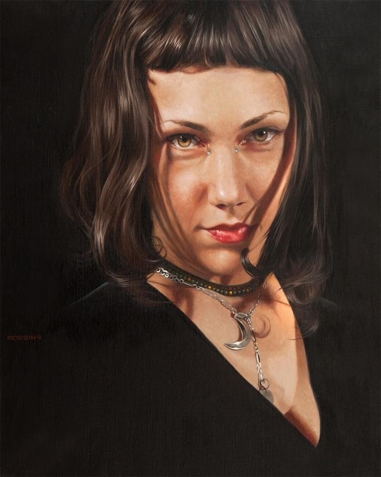 Fierce Bowman 20x16 oil linen - portraiture - nadinerobbinsart | ello