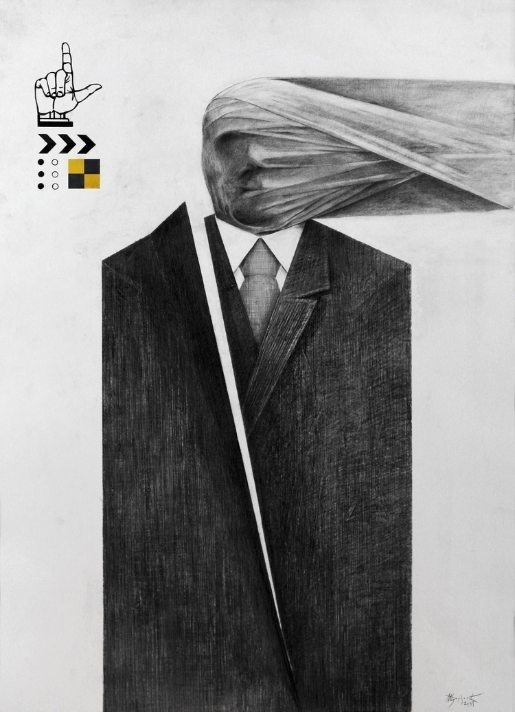 graphite, pen ink, 50 70 cm. Co - milosdjordjevic | ello