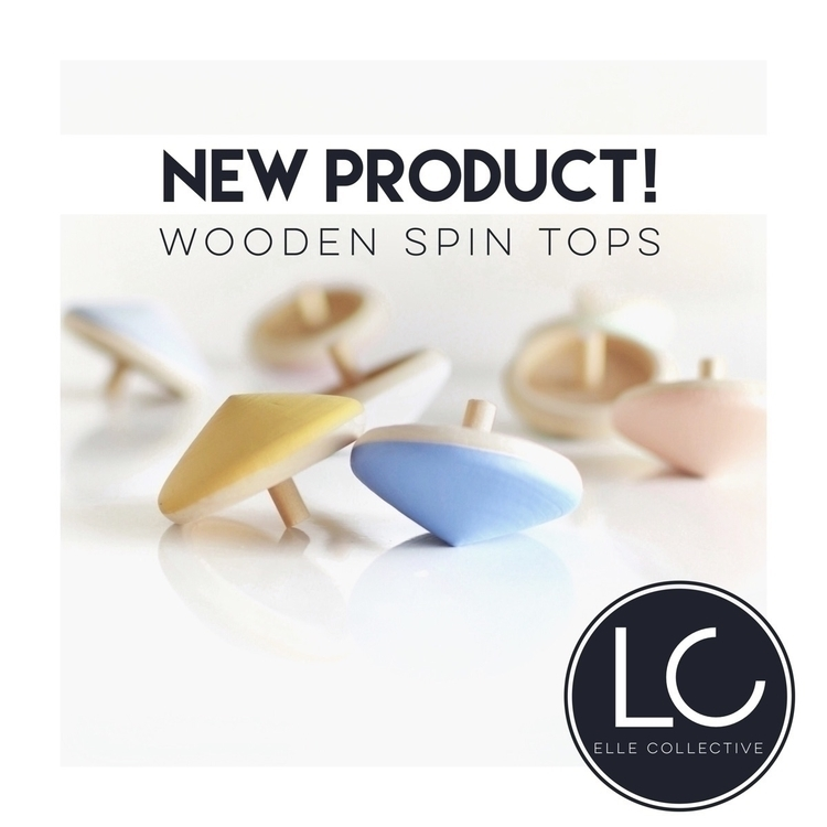 •WOODEN SPIN TOPS• Introducing  - ellecollective | ello