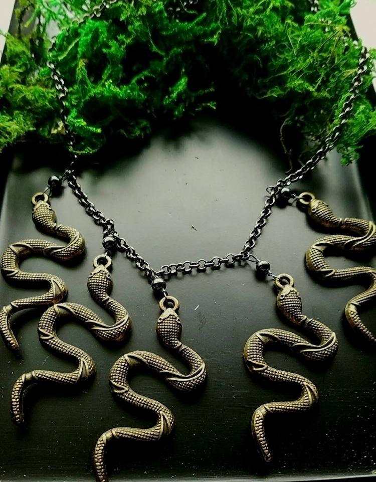 serpentnecklace, lolafaejewelry - lolafaejewelry | ello