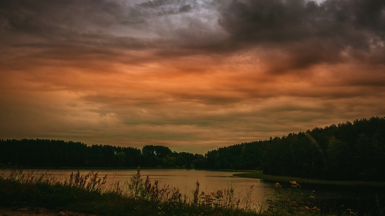 lake, horizon, sky, nature, lithuania - beheroght | ello