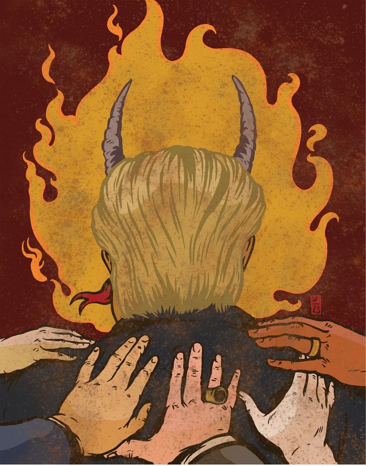 Blessed Devil - illustration - thomcat23 | ello