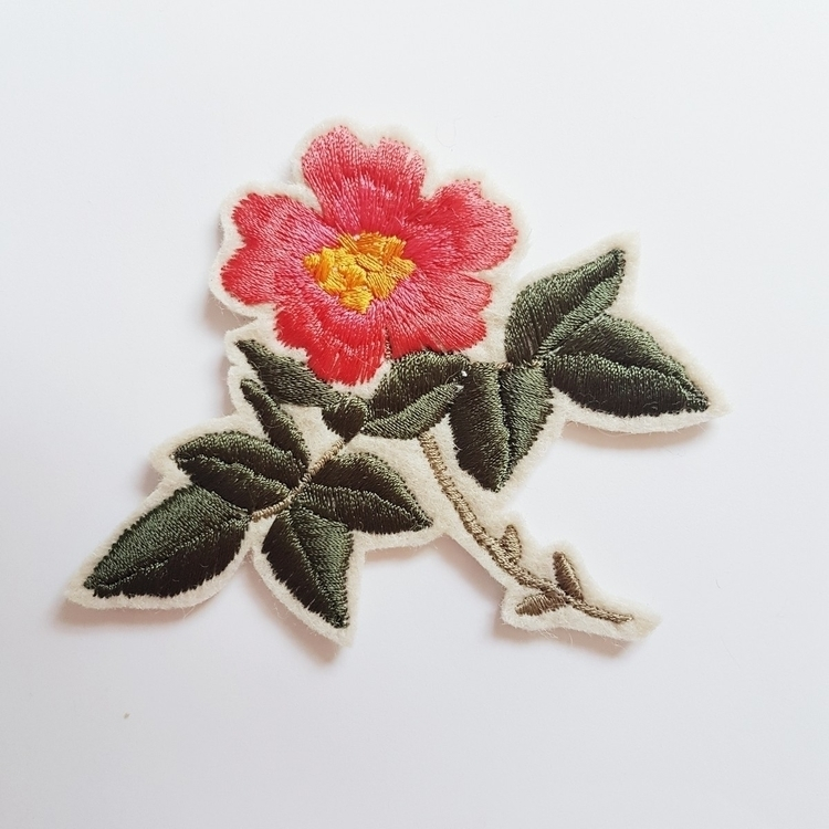 shop Dog Rose Patch - ello, ellonew - embroiderybykgdesign | ello