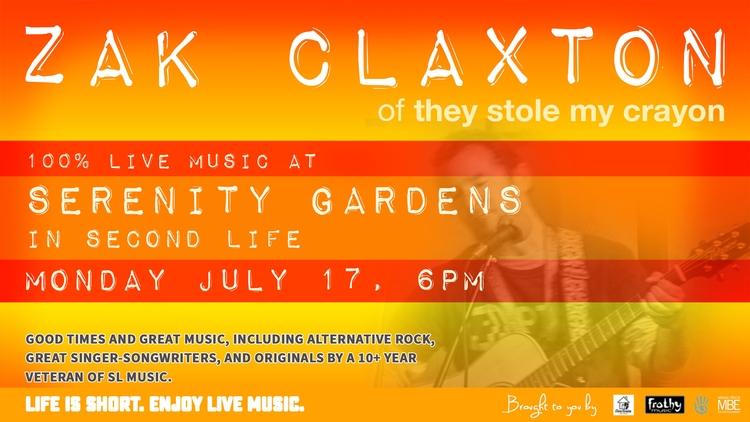 TONIGHT (MON JUL 17), 6PM SLT:  - zakclaxton   ello