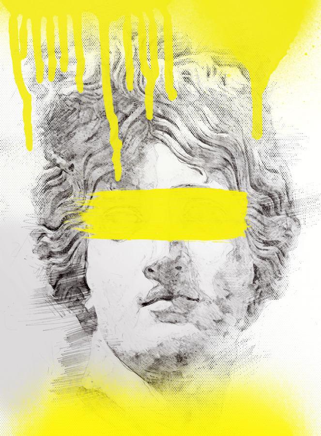 Apollo - drawing, illustration, stencil - zeroing | ello