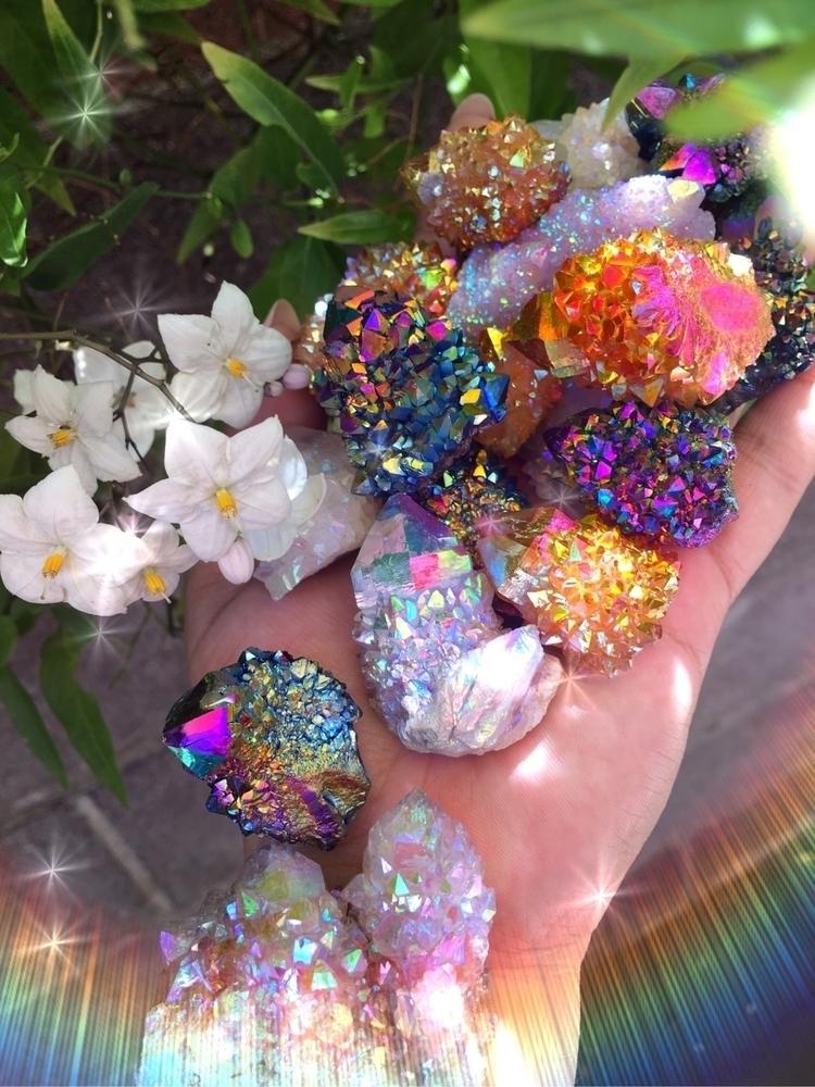 Aura spirit quartz - angelaura, rainbowaura - prismsouls | ello