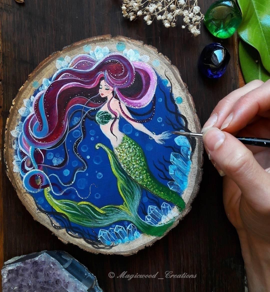 Work progress - mermaid, mermaidlovers - magicwood_creations | ello