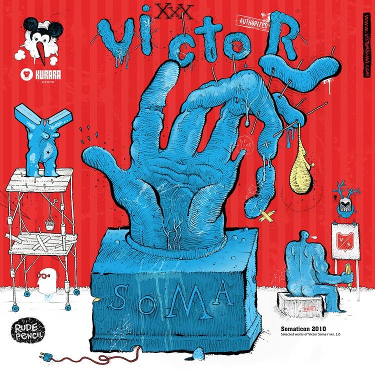 selfpromo, drawing, design, cover - victorsoma   ello