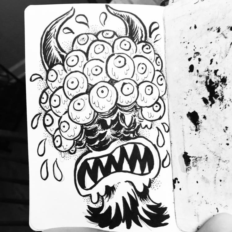 watch - monster, eyes, ink - royallyeric | ello