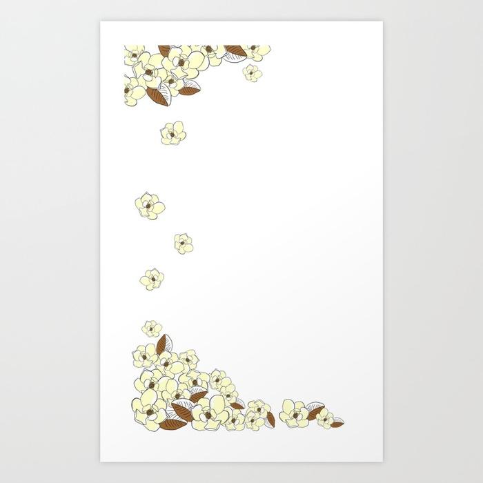 magnolia, flowers, white, love - miideegrafiche | ello