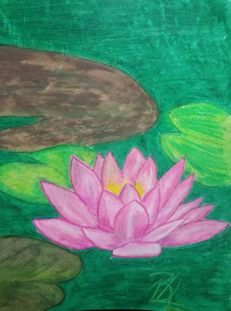 Lotus love oil pastels - totallytwistedfickity   ello