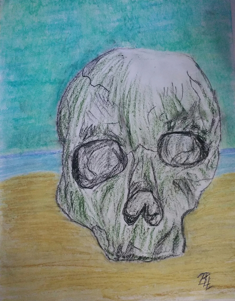 Death sun, oil pastel drawing - totallytwistedfickity | ello