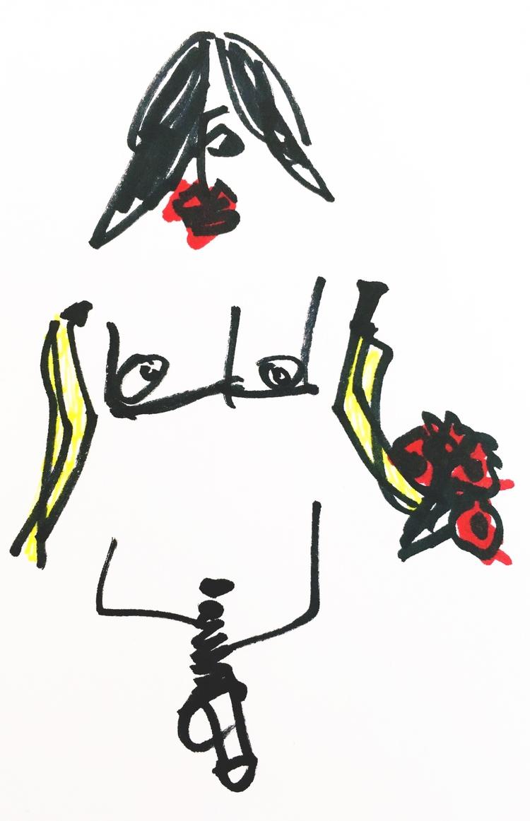 Nude Rocker Banana Arms Bouquet - jkalamarz | ello