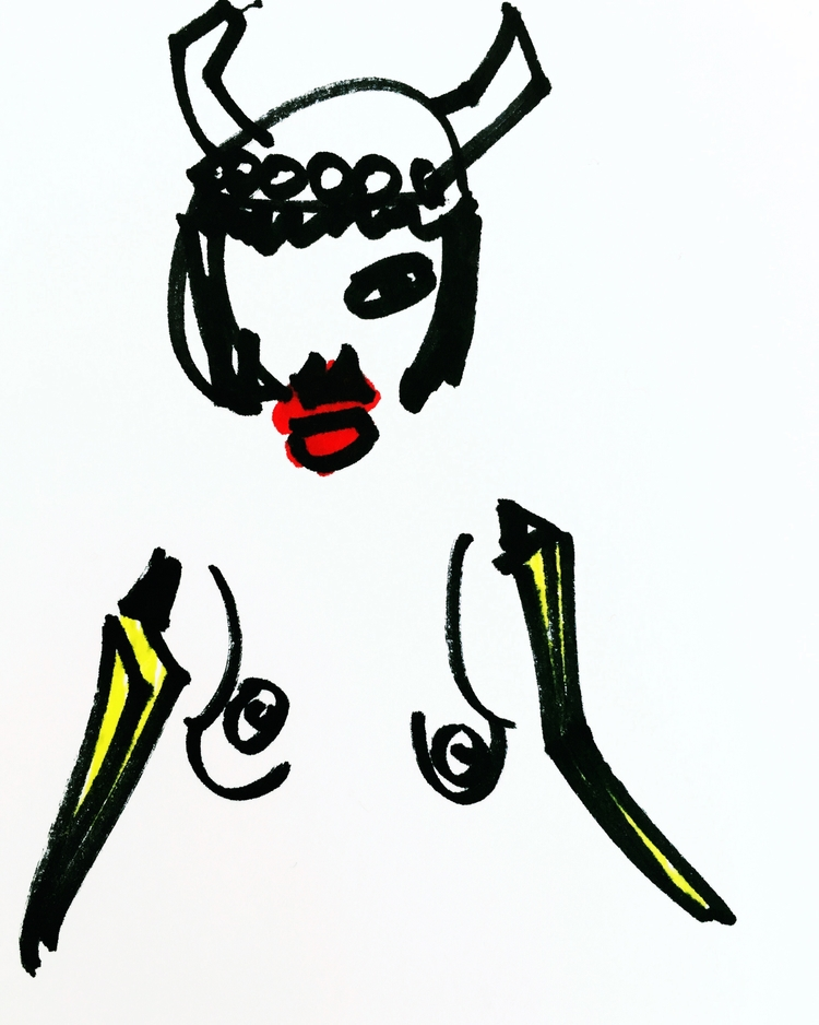 1) Nude Woman Banana Arms Kitsc - jkalamarz   ello
