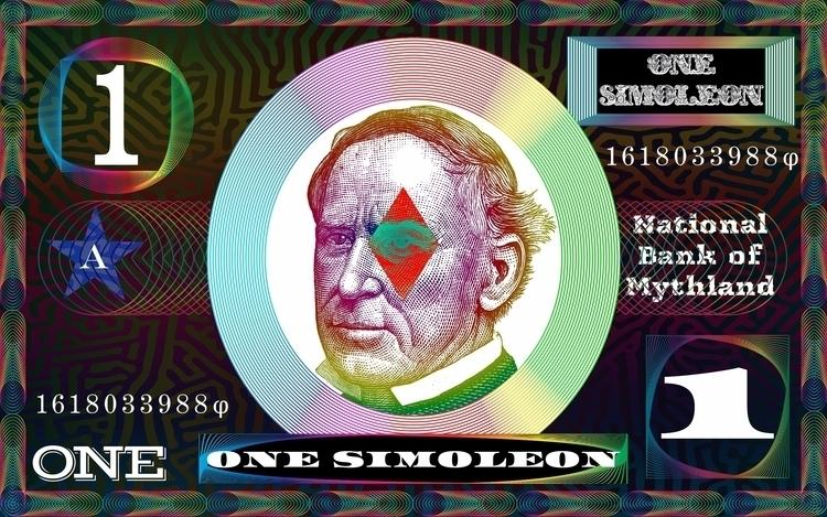 Simoleon Banknote (2017). Digit - retrocollage   ello