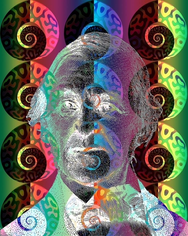 Spiroidian Portrait (2017). Dig - retrocollage   ello