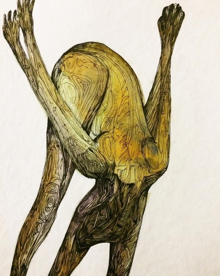 Title: Head heels drawing - watercolor - jacobbayneartist | ello