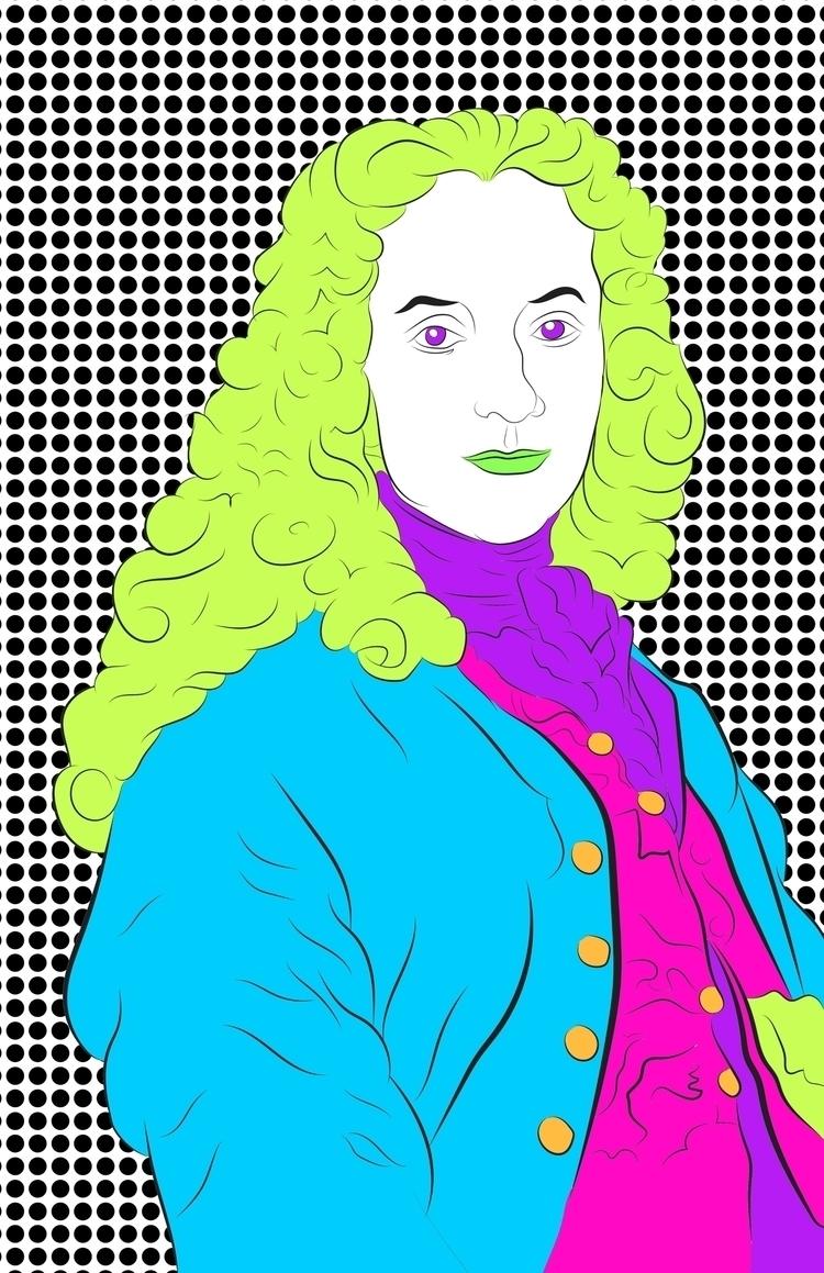 Highlighter Writer - Voltaire - illustration - hafler | ello