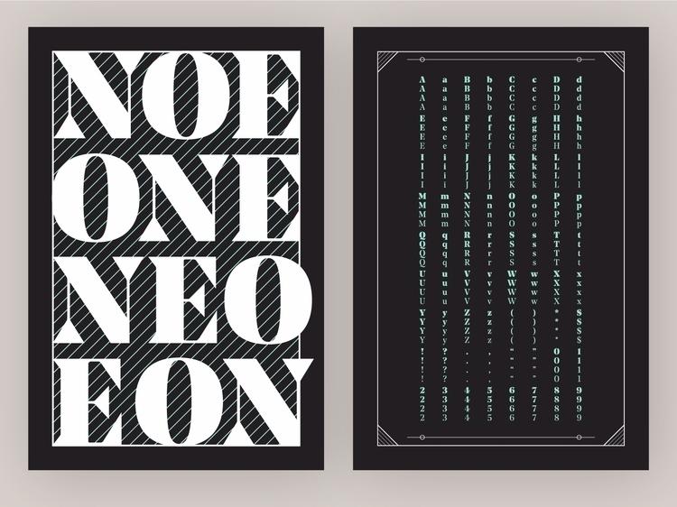 Type Specimen Poster Series - 3 - vnthony | ello