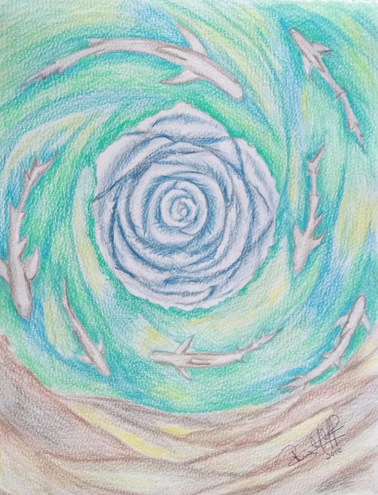 Sweet curiosity - watercolor, pencil - rinamr | ello