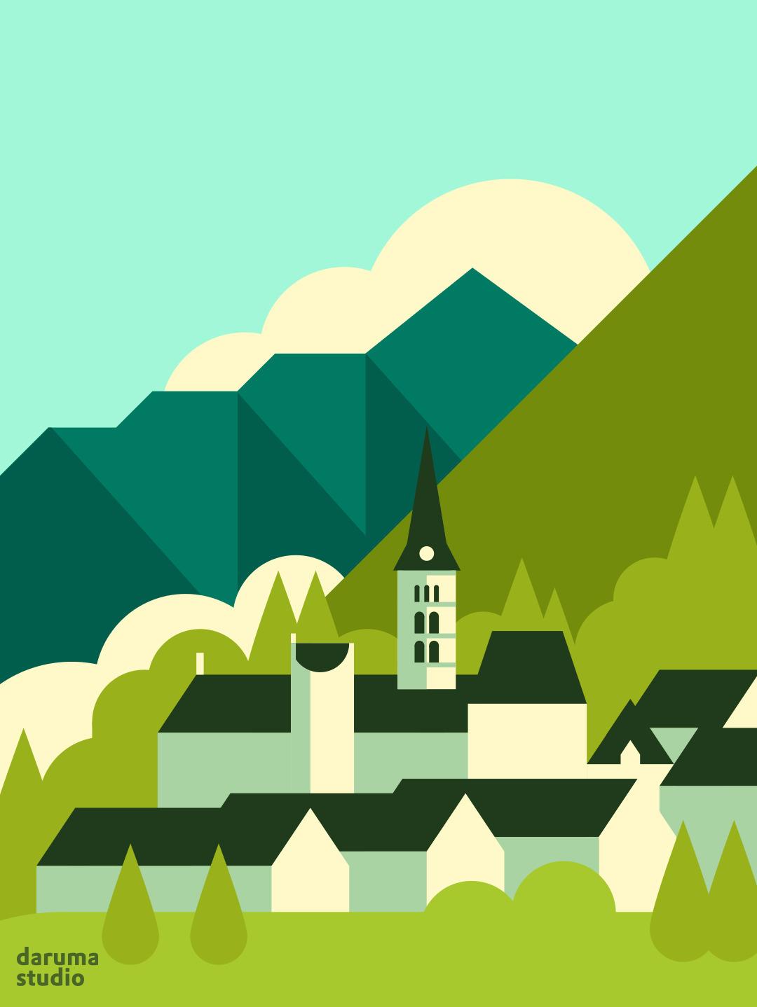 Vall (Aran Valley - graphics, design - daruma_studio | ello