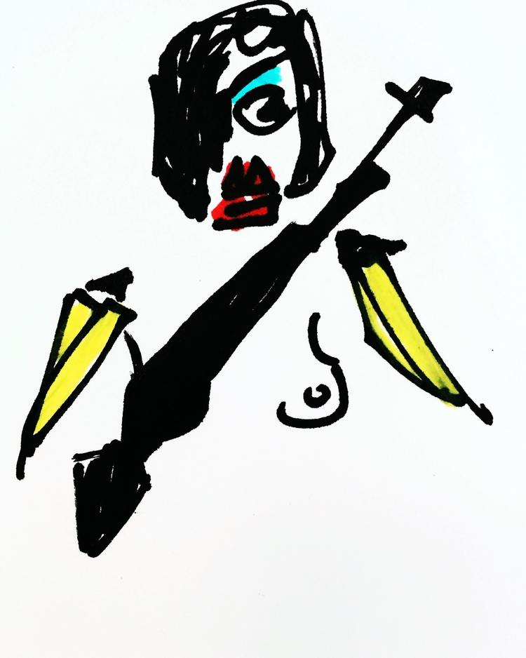 Nude Banana-Armed Revolutionary - jkalamarz | ello