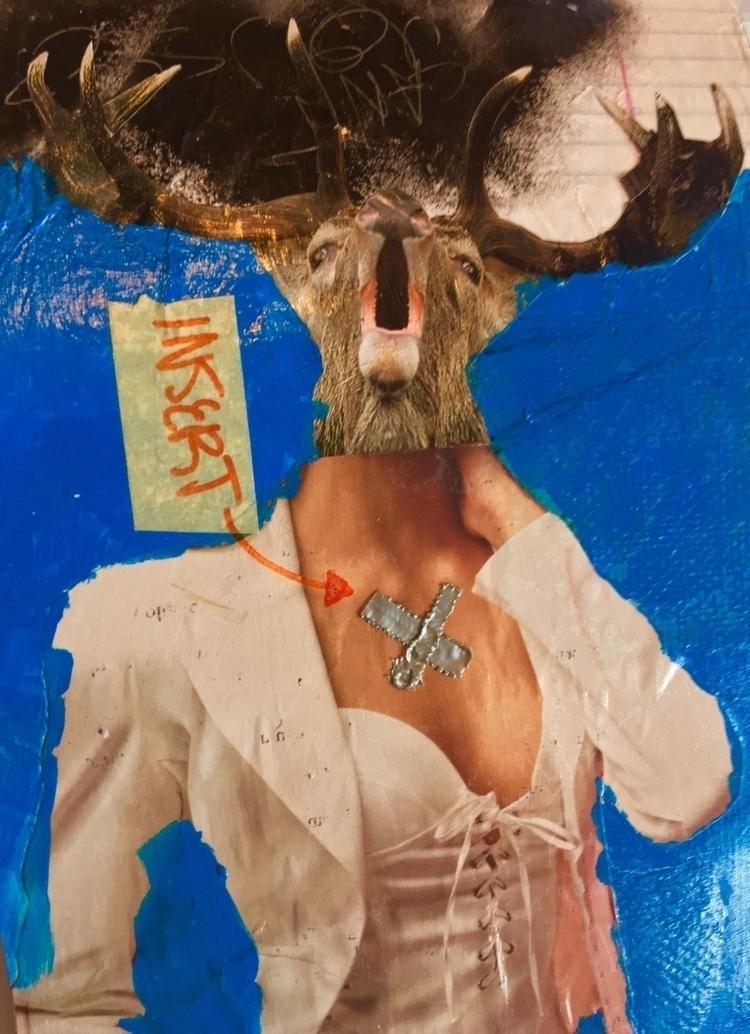 fashion, collage, mixedmedia - meshelluh | ello