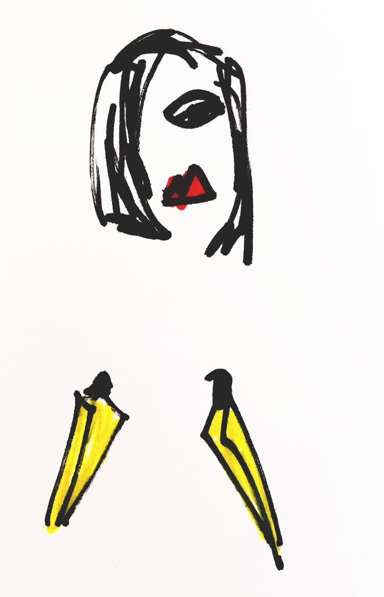 Pensive Nude Beautiful Banana B - jkalamarz | ello
