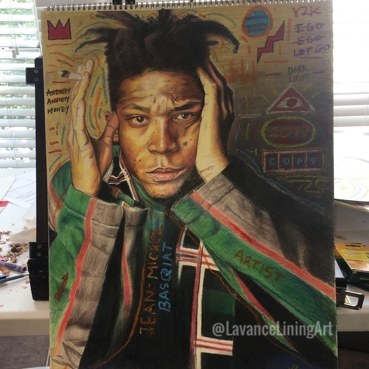 Basquiat drawing. 18x24-mixed m - lavanceliningart | ello