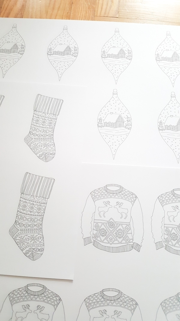 Guess printing Christmas cards  - annagrunduls | ello