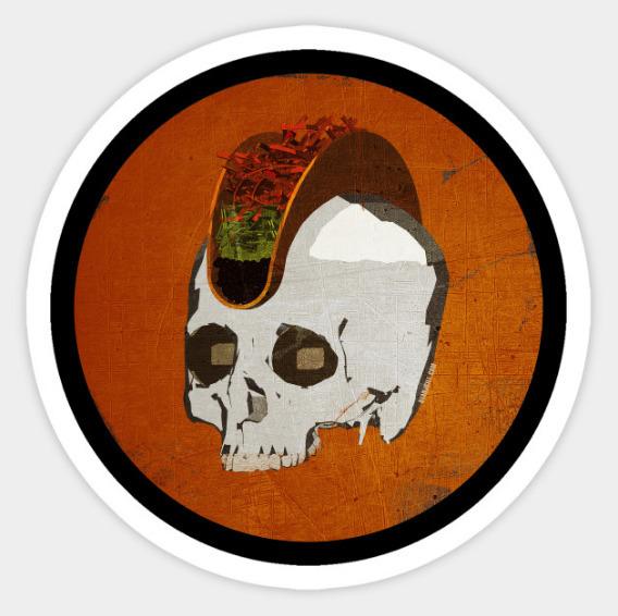 Punk Rock Taco Skull - ryanjgill   ello