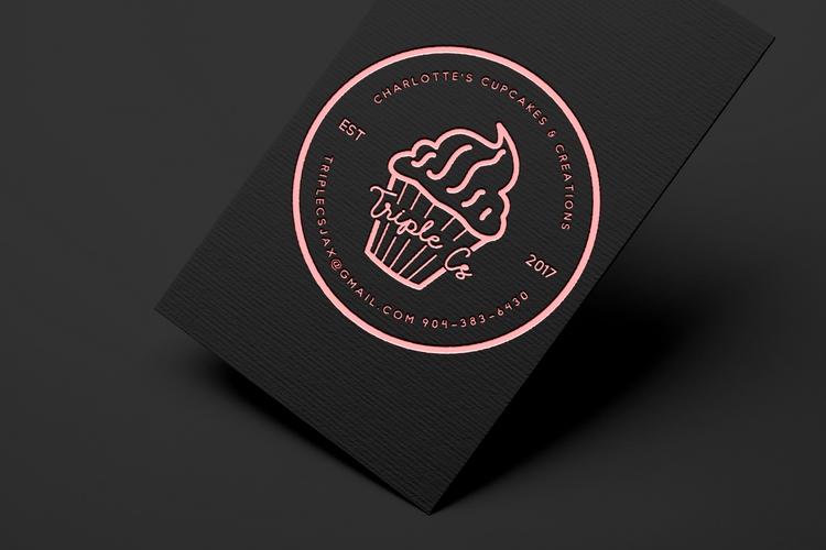 Logo Design Triple Cupcakes Cre - kathyjeaan | ello