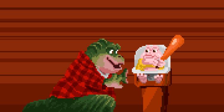 [Dinosaurs - Momma - pixelart, pixel - apoonto | ello