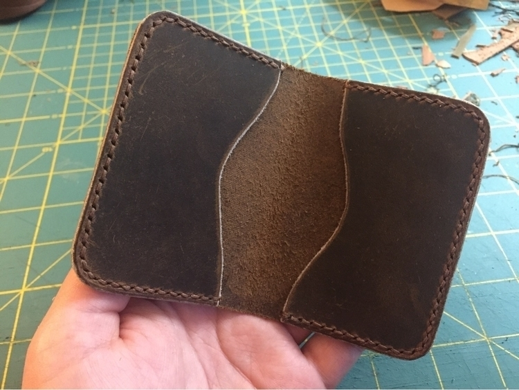 Breeze card wallet Crazy Horse  - twinflameleatherco | ello