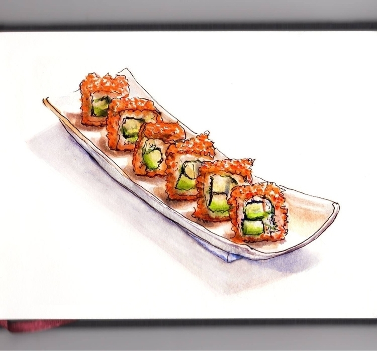 - Day 20 California Roll Dreami - doodlewash | ello