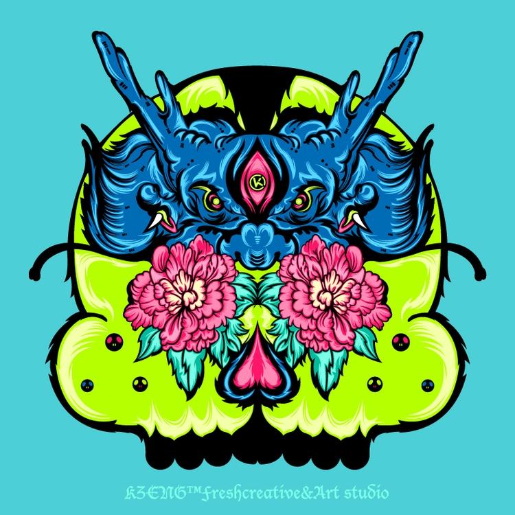 Dragon Skull - kzengjiang, illustration - kzengjiang | ello