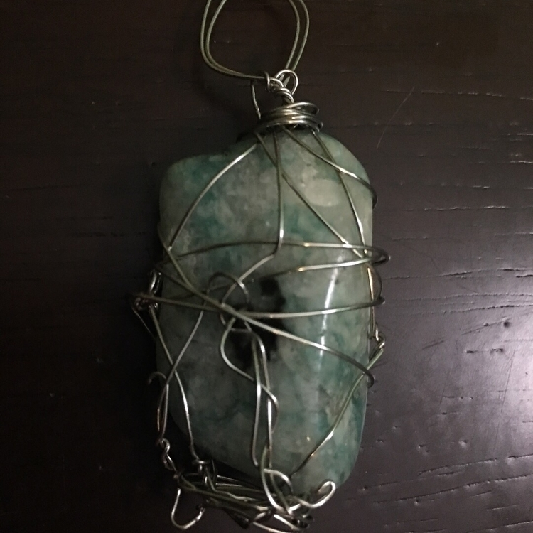 Amazonite Pendant - Blackbird M - maggies0817 | ello