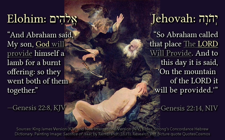 Abraham called place LORD Provi - quotescosmos | ello
