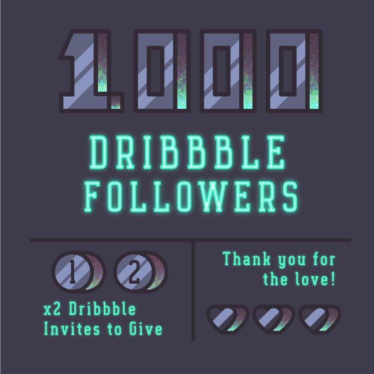 Dribbble Invite Giveaway! Visit - darumacreative | ello