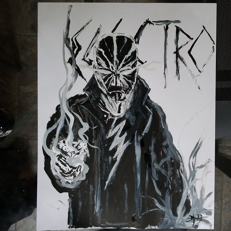Electro 11x14 freehand brushed  - danhawksworth | ello