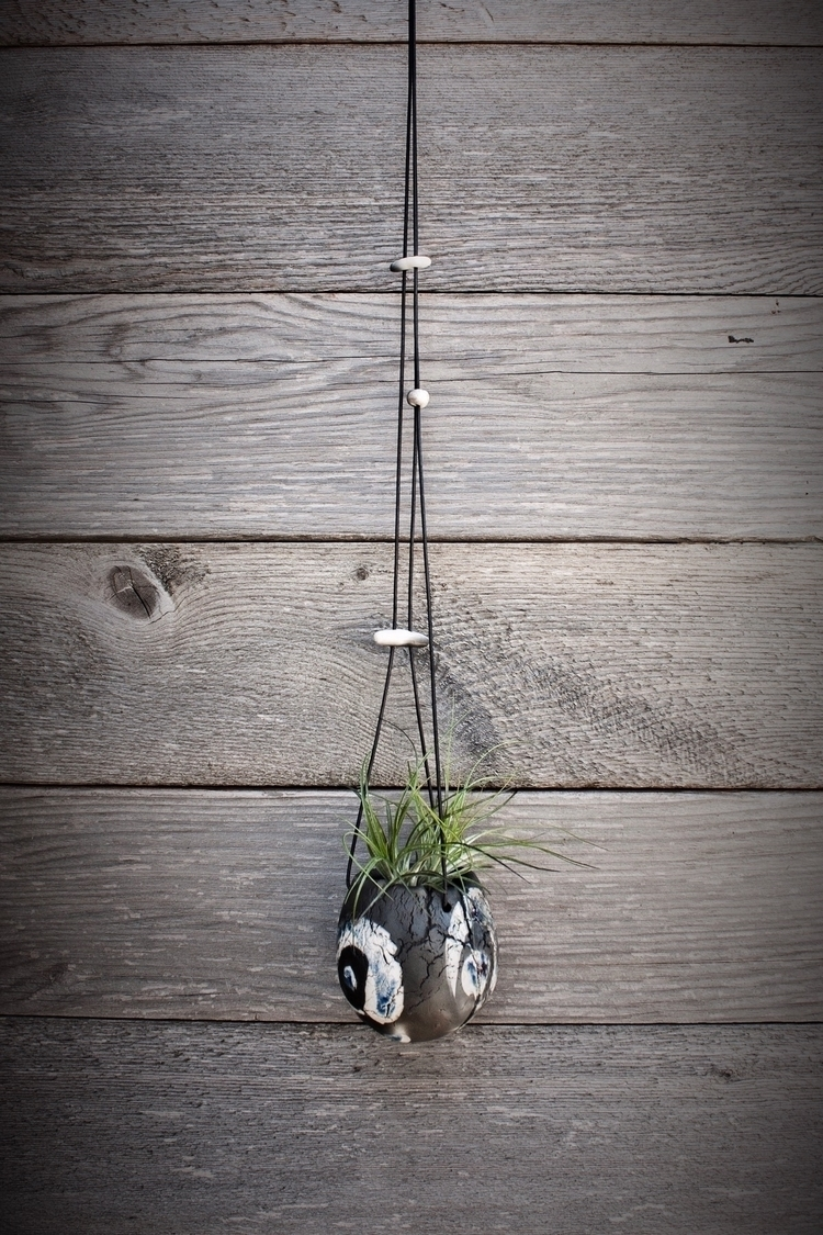 Raku fired ceramic hanging plan - highyieldstudio | ello
