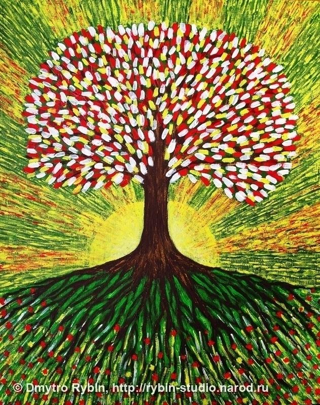 Tree life. Acrylic, 40x50 cm - tree - dmytroua | ello