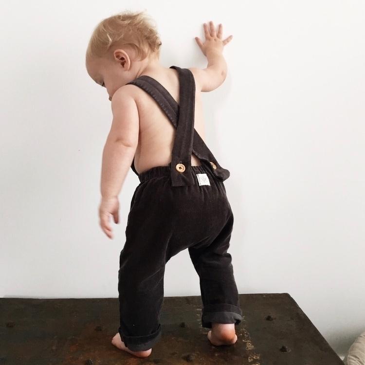 Oscar wearing Harem Overalls - baby - toastietoots | ello