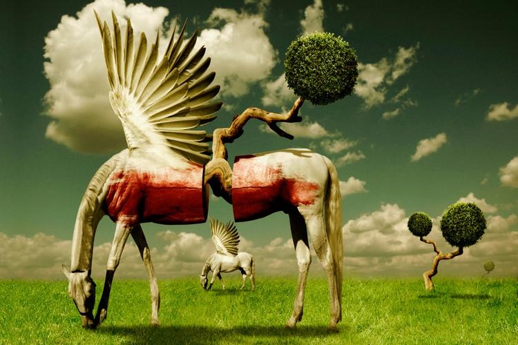 Pegasus Divided - popart, lowbrow - apocryph | ello