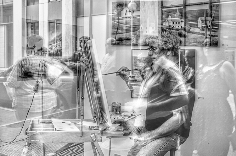 Artist window - streetphotography - evildad | ello