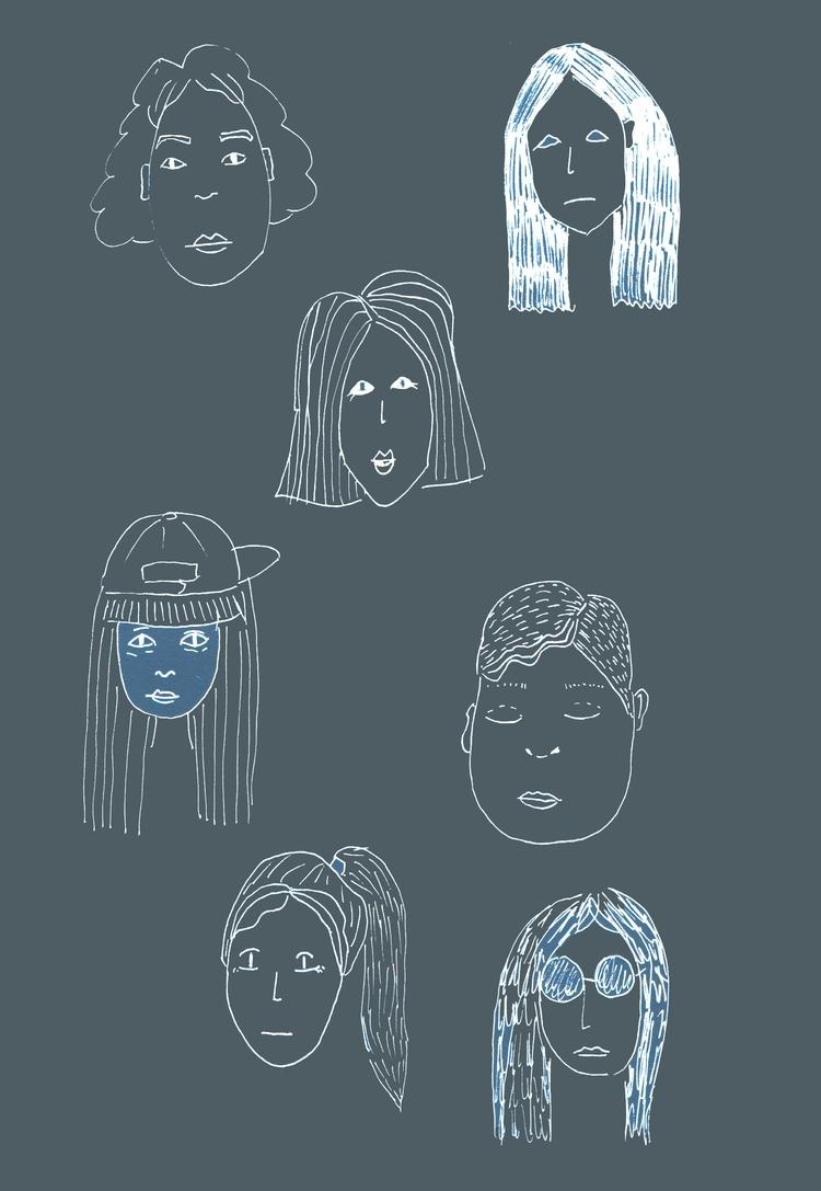 Faces - illustration, illustrator - nigli | ello