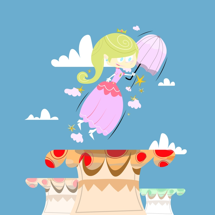 Peachy - illustration, retro, peach - natekogan | ello