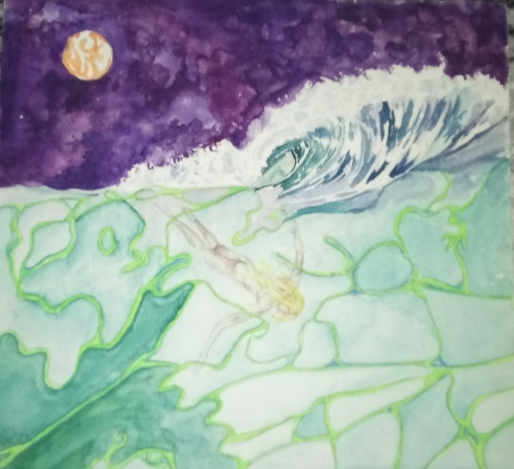 Sunk - watercolor, finearts, ocean - rinamr   ello
