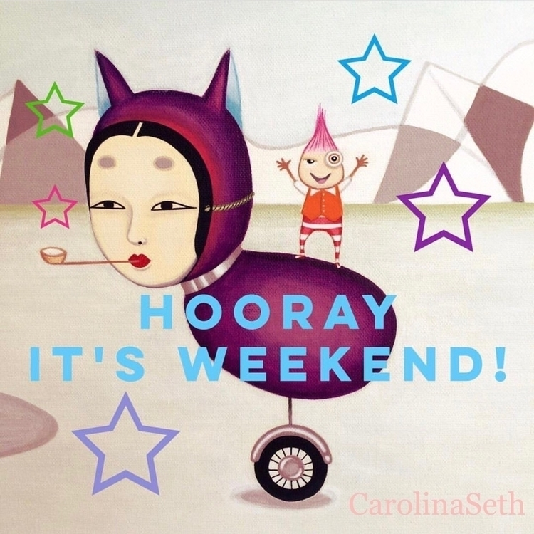 Happy Caturday! Weekend cheers  - carolinaseth | ello